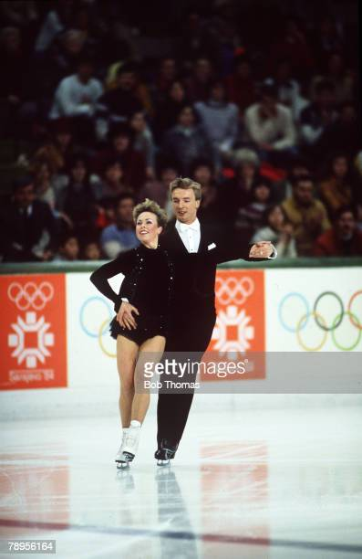 Sport 1984 Winter Olympic Games Sarajevo YugoslaviaIce Skating Ice Dance Jayne Torvill and Christopher Dean Great Britain the Gold medal winners