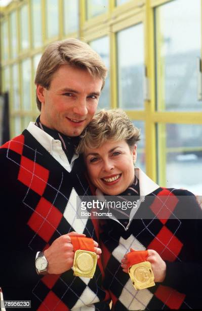 Sport 1984 Winter Olympic Games Sarajevo YugoslaviaIce Skating Ice Dance Great Britain's Jayne Torvill and Christopher Dean the Gold medal winners