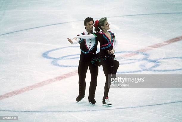 Sport 1988 Winter Olympic Games Calgary Canada Ice Skating Ice Dance Tracy Wilson and Robert McCall Canada the Bronze medal winners