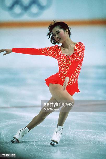 Sport 1988 Winter Olympic Games Calgary Canada Ladies Figure Skating Junko Yaginuma Japan