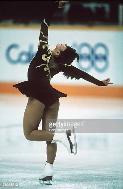 Sport 1988 Winter Olympic Games Calgary Canada Ladies Figure Skating Midori Ito Japan
