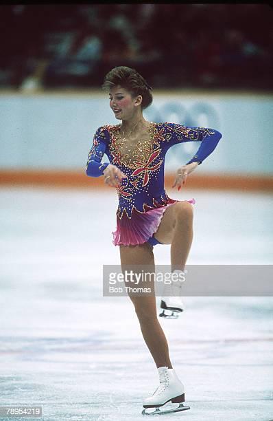Sport 1988 Winter Olympic Games Calgary Canada Ladies Figure Skating Caryn Kadavy USA