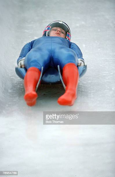 Sport 1988 Winter Olympic Games Calgary Canada Ladies Luge Gerda Weissensteiner Italy