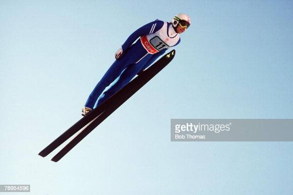 Sport 1988 Winter Olympic Games Calgary Canada Mens 90 metre Ski Jump Team Event Matti Nykanen Finland Finland won the Gold medal in the the team...