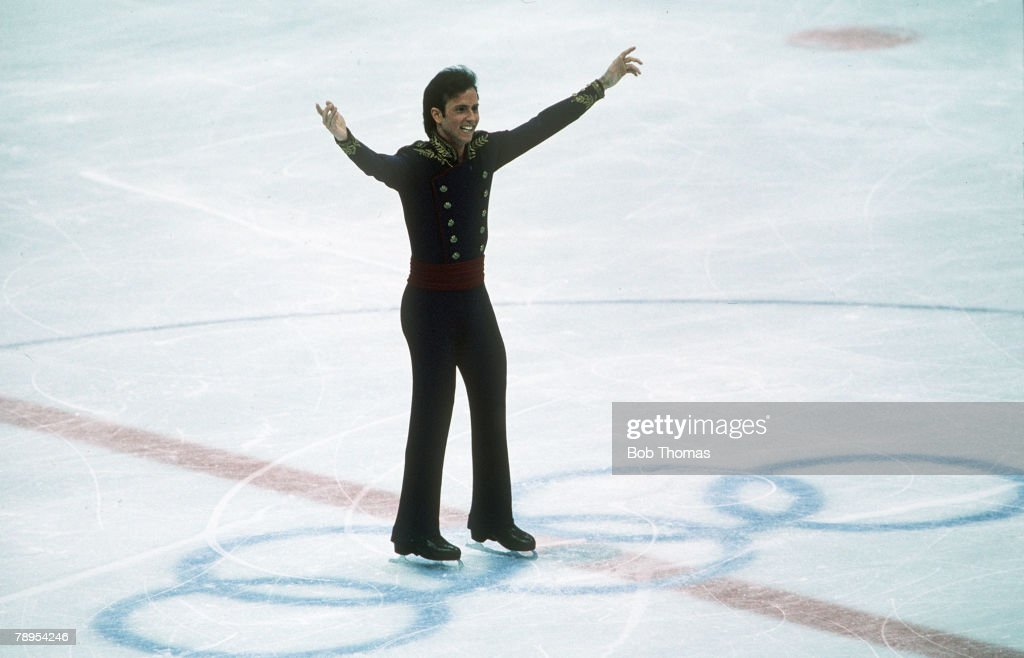 Sport. 1988 Winter Olympic Games. Calgary, Canada. Mens Figure Skating. Brian Boitano, USA, the Gold medal winner. : News Photo