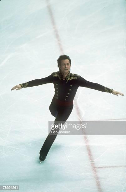 Sport 1988 Winter Olympic Games Calgary Canada Mens Figure Skating Brian Boitano USA the Gold medal winner