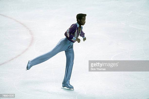 Sport 1988 Winter Olympic Games Calgary Canada Mens Figure Skating Axel Mederic France