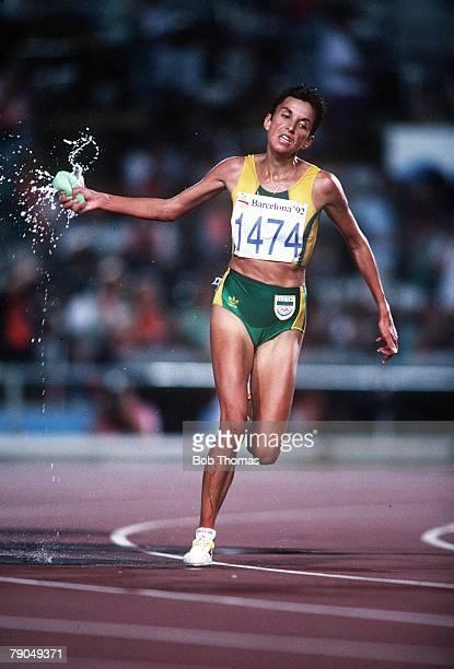 Sport 1992 Olympic Games Barcelona Spain Athletics Women's 10 000 Metres Silver medal winner Elana Meyer of South Africa