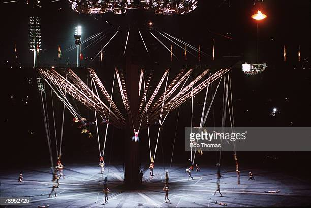 Sport 1992 Winter Olympic Games Albertville France A colouful scene at the opening ceremony