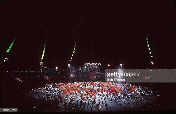 Sport 1992 Winter Olympic Games Albertville France A colourful scene at the opening ceremony