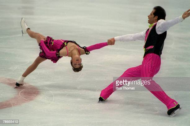 Sport 1992 Winter Olympic Games Albertville France Ice Skating Pairs Isabelle Brasseur and Lloyd Eisler Canada the Bronze medal winners