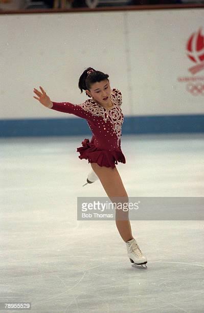 Sport 1992 Winter Olympic Games Albertville France Ice Skating Womens Figure Skating Midori Ito Japan the Silver medal winner