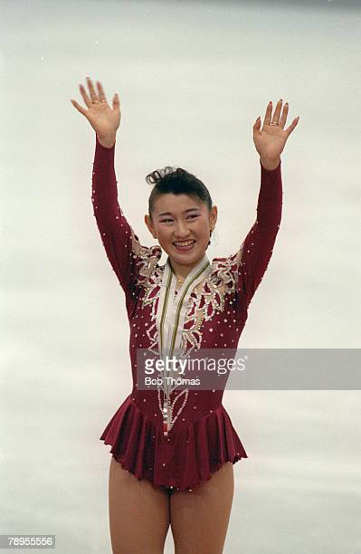 Sport 1992 Winter Olympic Games Albertville France Ice Skating Womens Figure Skating Midori Ito Japan the Silver medal winner