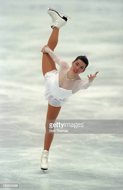Sport 1992 Winter Olympic Games Albertville France Ice Skating Womens Figure Skating Nancy Kerrigan USA the Bronze medal winner