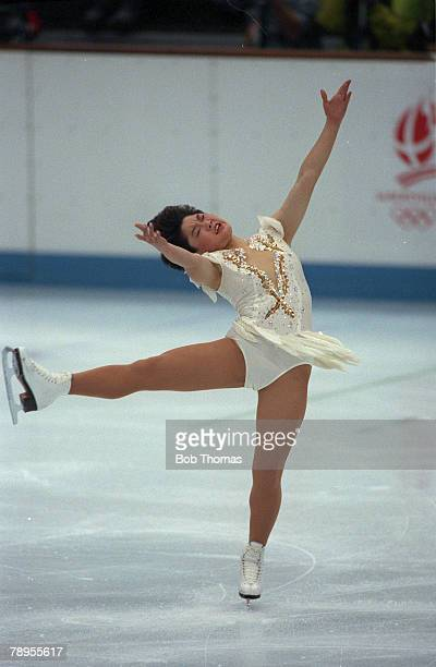 Sport 1992 Winter Olympic Games Albertville France Ice Skating Womens Figure Skating Yuka Sato Japan