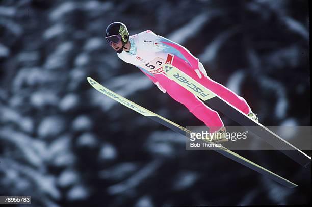 Sport 1992 Winter Olympic Games Albertville France Mens Team120 metre Ski Jump Noriaki Kasai Japan