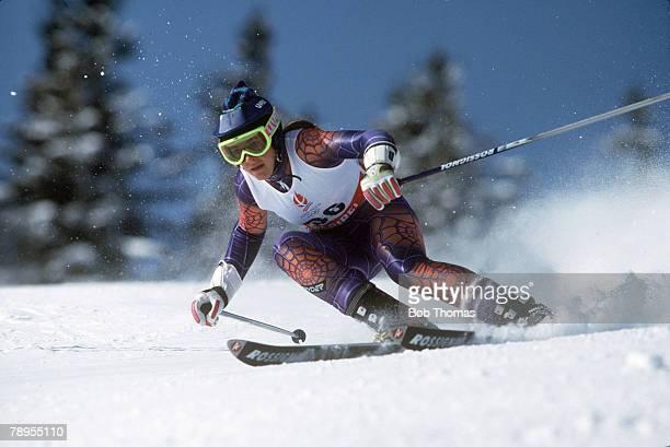 Sport 1992 Winter Olympic Games Albertville France Skiing Womens Giant Slalom Zali Steggall Australia