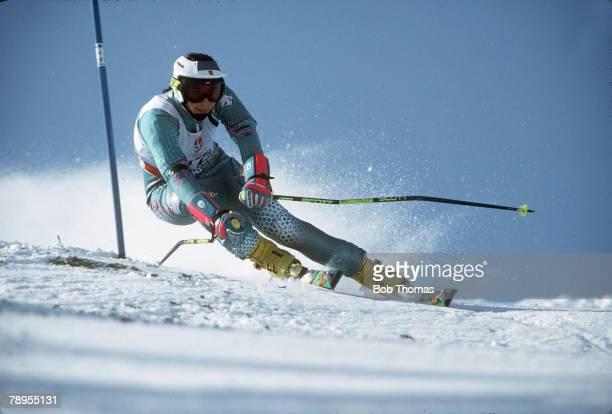 Sport, 1992 Winter Olympic Games, Albertville, France, Skiing, Womens Giant Slalom, Blanca Fernandez Ochoa, Spain