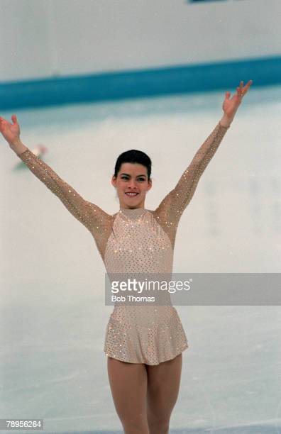 Sport 1994 Winter Olympic Games Lillehammer Norway Ice Skating Ladies Figure Skating Singles Nancy Kerrigan USA the Silver medal winner