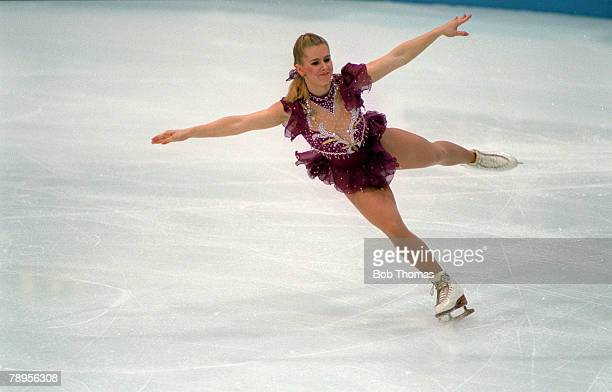 Sport 1994 Winter Olympic Games Lillehammer Norway Ice Skating Ladies Figure Skating Singles Tonya Harding USA who finished 8th after being thought...