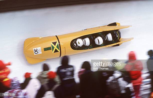 Sport 1998 Winter Olympic Games Nagano Japan 4 Man Bobsleigh Jamaica 1 Dudley Stokes Winston Watt Nelson Stokes Wayne Thomas