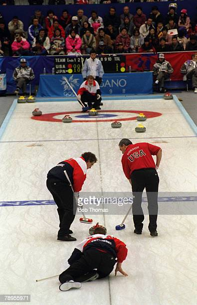 Sport 1998 Winter Olympic Games Nagano Japan Curling illustration USA v Japan