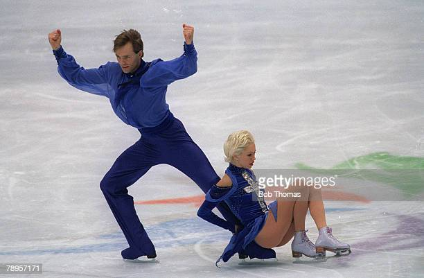 Sport 1998 Winter Olympic Games Nagano Japan Figure Skating Ice Dance Pasha Grishuk and Evgeny Platov Russia the Gold medal winners