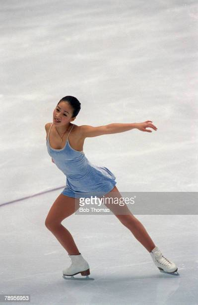 Sport 1998 Winter Olympic Games Nagano Japan Figure Skating Ladies Individual Michelle Kwan USA the Silver medal winner
