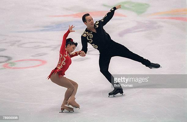 Sport 1998 Winter Olympic Games Nagano Japan Figure Skating Pairs Sarah Abitbol and Stephane Bernadis France