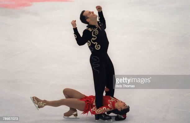 Sport 1998 Winter Olympic Games Nagano Japan Figure Skating Pairs Stephane Abitbol and Stephane Bernadis France