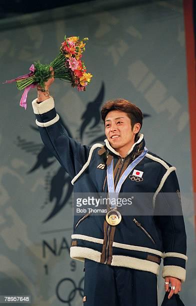 Sport 1998 Winter Olympic Games Nagano Japan Ski Jump K120 Kazuyoshi Funaki Japan the Gold medal winner