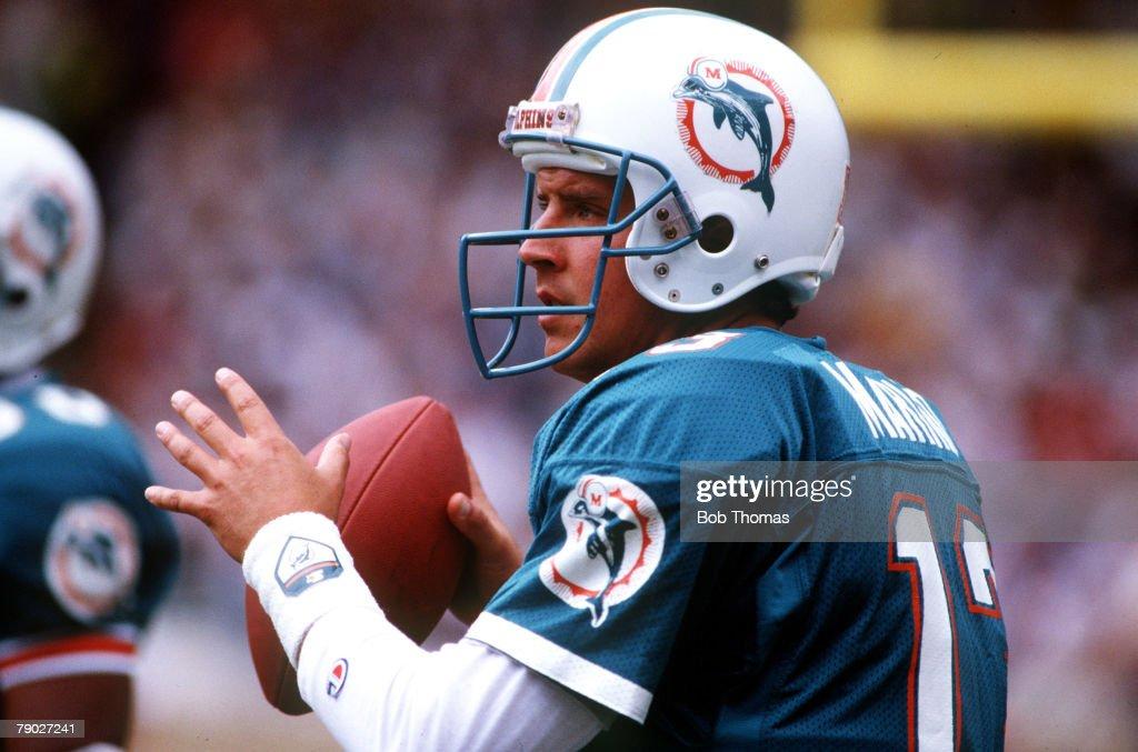 Sport. American Football. American Bowl. Wembley, London, England. 31st July 1988. Miami Dolphins 27 v San Francisco 49ers 21. Dan Marino, Quarterback of the Miami Dolphins. : News Photo