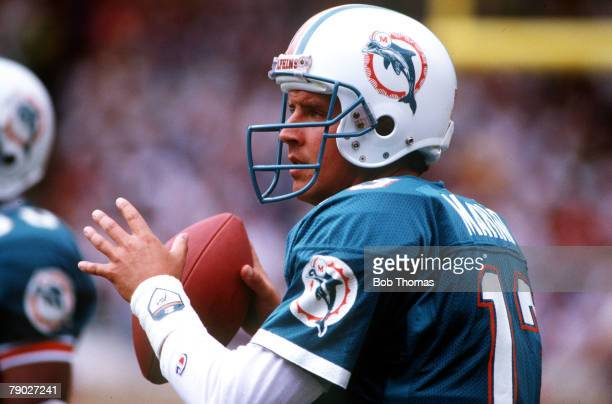 Sport American Football American Bowl Wembley London England 31st July 1988 Miami Dolphins 27 v San Francisco 49ers 21 Dan Marino Quarterback of the...