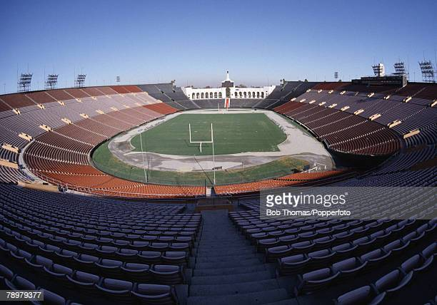 Sport American Football Los Angeles California USA General view of the Coliseum Memorial stadium