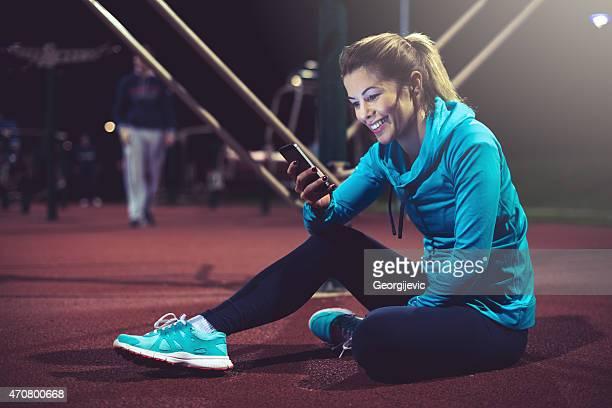 スポーツ、テクノロジー  - スポーツ チェックする ストックフォトと画像