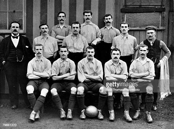 Sport Association Football circa 189596 Preston North End Team group A Tait J Trainer and R Holmes T Houghton J Sharp M Sanders W Orr and J Barton A...