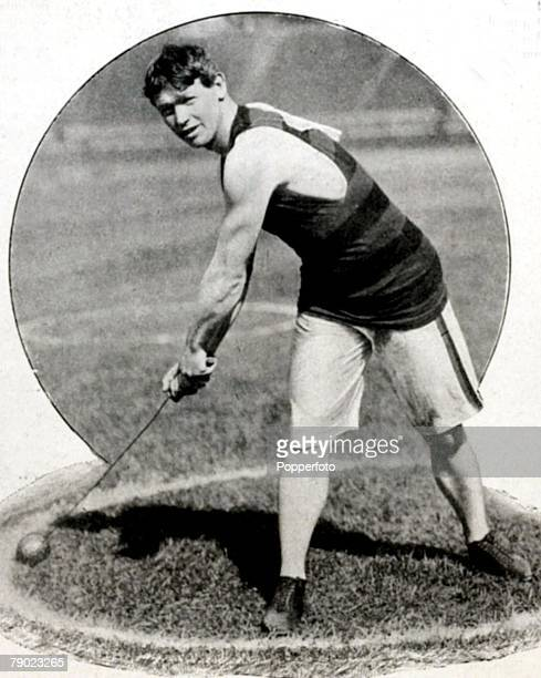 Sport, Athletics, 1900 Olympic Games, Paris, France, Mens Hammer Throw, Josiah McCracken, U,S,A, who took the Bronze medal in the Hammer and going...