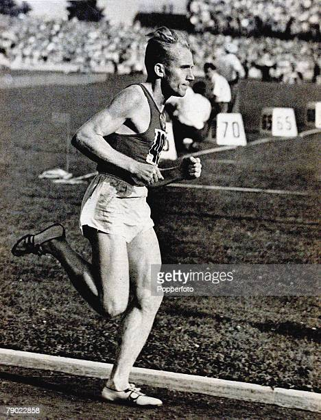 Sport Athletics 1956 Olympic Games Melbourne Australia Russia's Vladimir Kuts seen in action he was easily the best middle distance runner at the...