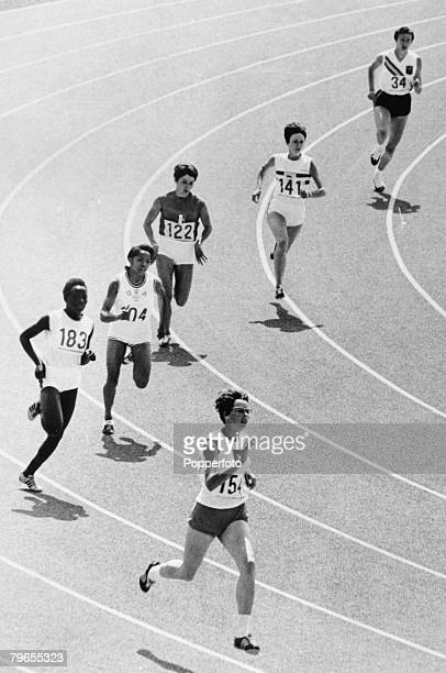 Sport Athletics 1968 Olympic Games in Mexico City Womens 400 metres Heat Holland's HVan der Hoeven leads the field before going on to win the race...