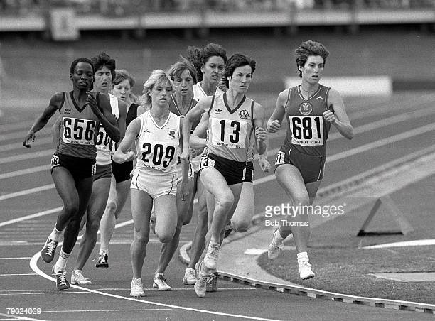 Sport Athletics 1982 Commonwealth Games Brisbane Australia Women's 800 Metres Final Wales' Kirsty McDermott on her way to winning the gold medal with...