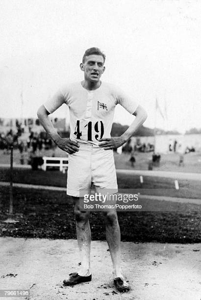Sport Athletics Olympic Games Paris France Great Britain's Harold Abrahams the 1924 Olympic Games gold medal winner in the 100 metres