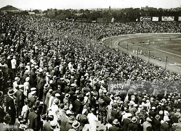 9th June 1930 British Games at Stamford Bridge A section of the enormous crowd at Stamford Bridge watching the top European athletes in action