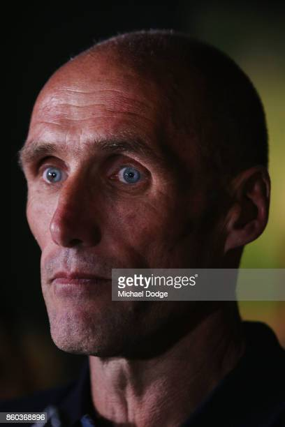 Sport Australia Hall of Fame Inductee and legend AFL footballer Tony Lockett speaks to media before the Annual Induction and Awards Gala Dinner at...