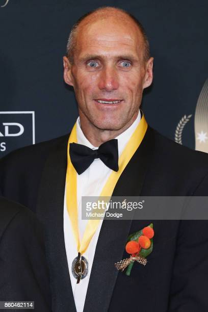 Sport Australia Hall of Fame Inductee and legend AFL footballer Tony Lockett poses at the Annual Induction and Awards Gala Dinner at Crown Palladium...