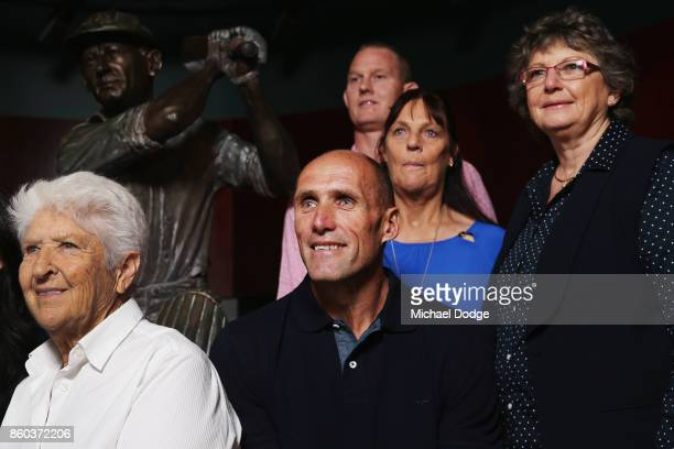 Sport Australia Hall of Fame Inductees AFL footballer Tony Lockett basketballer Troy Sachs Cheryl Manalini and sports medicine Dr Grace Bryant pose...