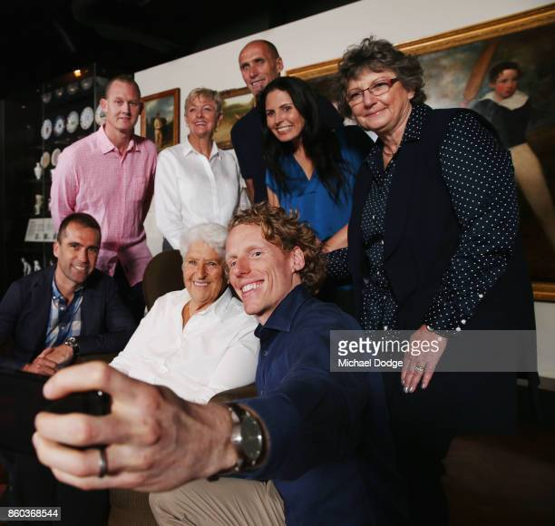 Sport Australia Hall of Fame Inductees Cyclist Brad McGee Water polo pioneer Debbie Handley Cummins pole vaulter Steve Hooker holding the camera...