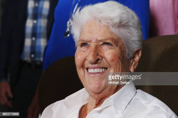 Sport Australia Hall of Fame legend Dawn Fraser poses at the National Sport museum before the Annual Induction and Awards Gala Dinner at Crown...