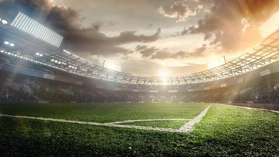 Sport Backgrounds. Soccer stadium. 951056152