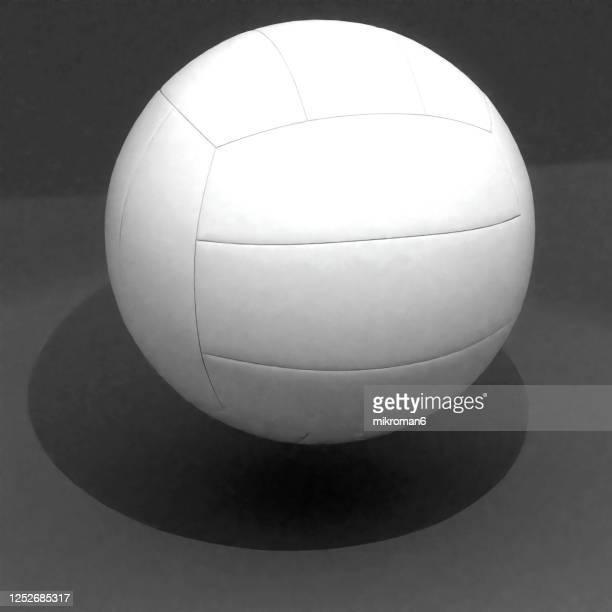 sport ball on black background, 3d concept - sports round stock-fotos und bilder