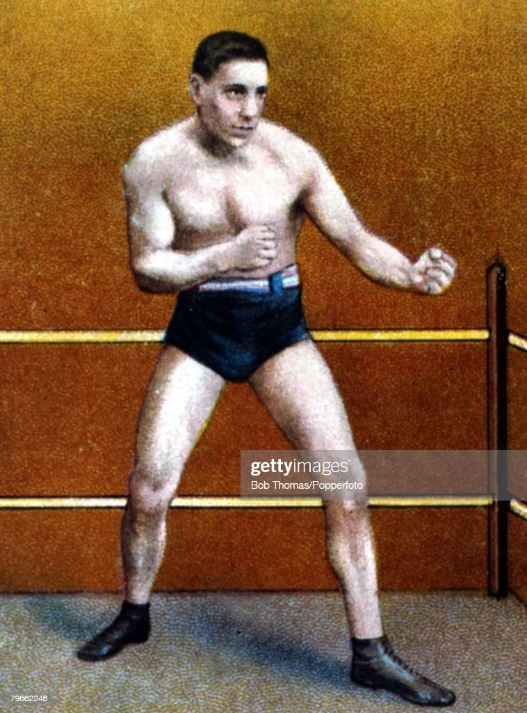 Sport, Boxing, Cigarette card, Circa 1900, James J,Barry